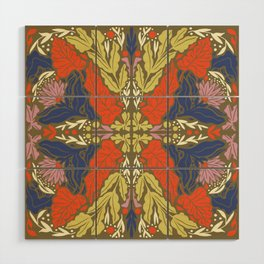 Vintage pattern Wood Wall Art