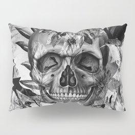 Black White Boho Skull Pillow Sham