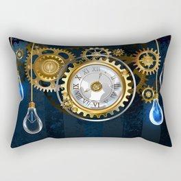 Steampunk Watches and Bulbs Rectangular Pillow