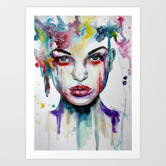 One Hour Watergirl  Art Print