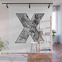 Cutout Letter X Wall Mural