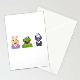 Kermit Miss Piggy And Gonzo The Muppets Pixel Stationery Cards