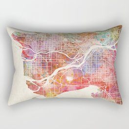 Vancouver map Rectangular Pillow