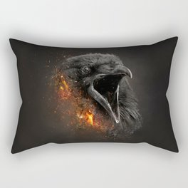 XTINCT x Raven Rectangular Pillow