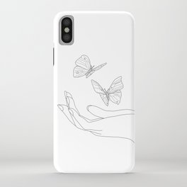 Butterflies on the Palm of the Hand iPhone Case