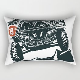ATV Dirt Race Rectangular Pillow