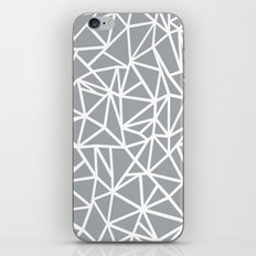 Abstract Outline Thick White on Grey iPhone & iPod Skin