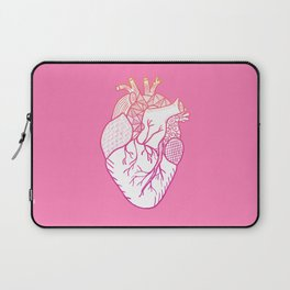 Designer Heart Pink Laptop Sleeve