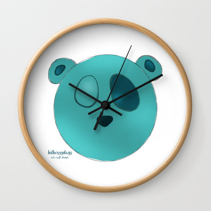 The Wopawopas_Pooch the Panda Wall Clock