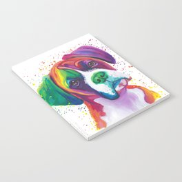 Rainbow Boxer Dog breeed Notebook