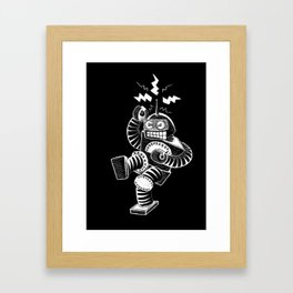 ELECTRIC! (Air-Guitaring Robot) Framed Art Print