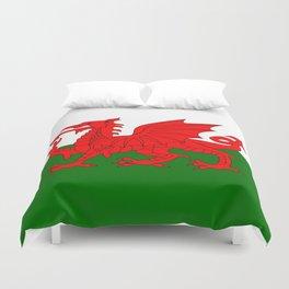 Welsh Dragon Flag Duvet Cover