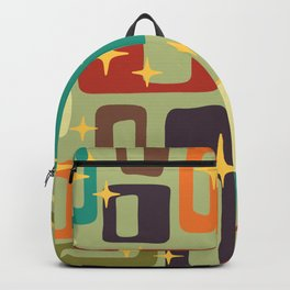 Retro Mid Century Modern Abstract Pattern 225 Backpack