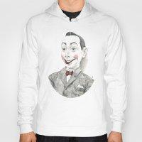 """pee wee Hoodies featuring """"Portrait of Pee-wee Herman"""" by Edward Cao"""
