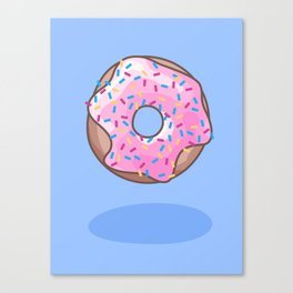 Pink Strawberry Donut Canvas Print