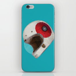 Bell Bullitt Cafe Racer Helmet Polygon Art iPhone Skin