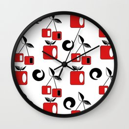 Geometric pattern . Fruit . Wall Clock
