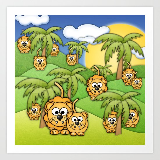 Little Lions. Art Print