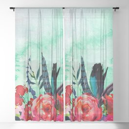 Flowers Bouquet 126 Sheer Curtain