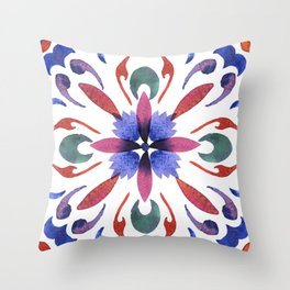 Floral ornament. Watercolor Throw Pillow