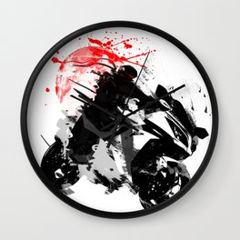 Ninja Motorcycle Wall Clock