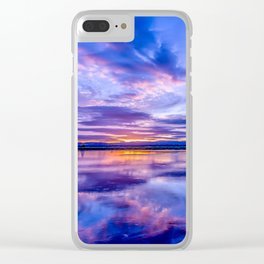 Scottish Sunset Clear iPhone Case