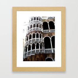Dramatic Venetian Palace. Framed Art Print