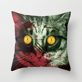 Zombie Kitty Throw Pillow