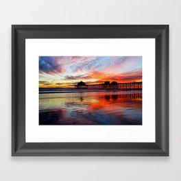 Huntington Beach Sunset    11/8/13 Framed Art Print