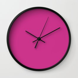 Magenta-Pink - solid color Wall Clock