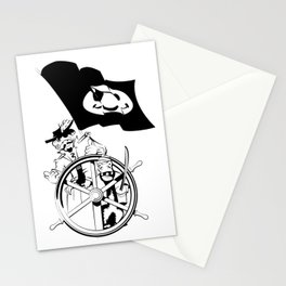 Cap'n at the helm Stationery Cards