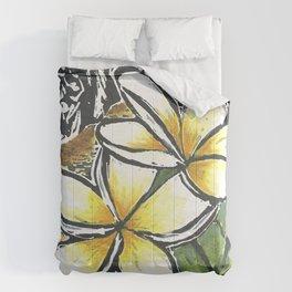 Frangipani Freedom, Puerto Rico (Plumeria alba)   Comforters