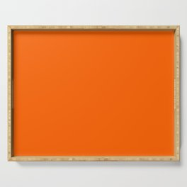 Fresh Orange Exuberance Current Fashion Color Trends Serving Tray