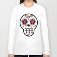 sugar skull Long Sleeve T-shirts featuring sugar skull by Diseños Fofo