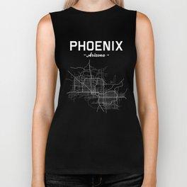 Phoenix, Arizona - b/w Biker Tank