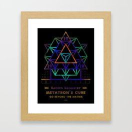 Sacred Geometry for your daily life - METATRON PSYCO Framed Art Print