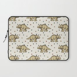 Triceratops & Triangles Laptop Sleeve