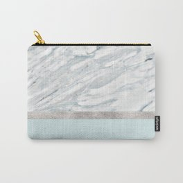 Calacatta verde - silver turquoise Carry-All Pouch