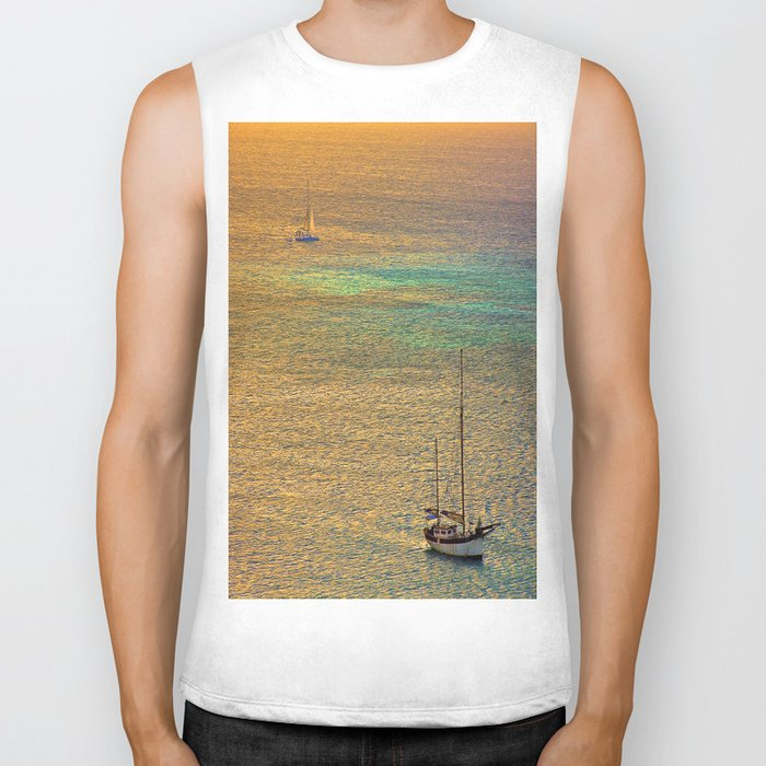 Sailing From the Sunset Biker Tank