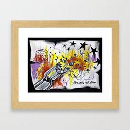 Turn Scars To Stars... Framed Art Print