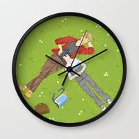 iwatobi Wall Clocks featuring Sunbathing by Le Piaf Bleu