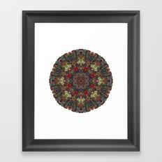 Hallucination Mandala 3 Framed Art Print