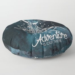 Adventure Is Out There Forest Lake Reflection - Nature Photography Floor Pillow