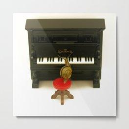 Snail Playing Tiny Piano... Metal Print