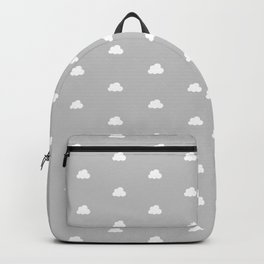 Light grey background with small white clouds pattern Backpack