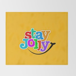 Stay Jolly - Key to Happiness Throw Blanket