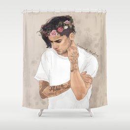 Zayn Floral Crown Shower Curtain