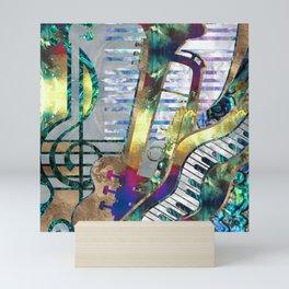 Abstract Music Art Collage - mixed media #1 Mini Art Print