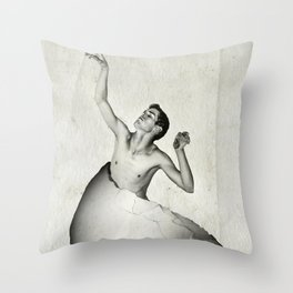 Eggboy Throw Pillow