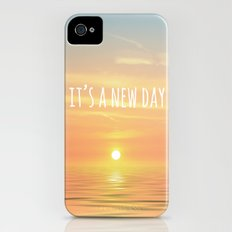 It's A New Day (Typography) Slim Case iPhone (4, 4s)